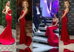 Které sluší rudé šaty víc?