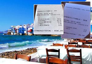 Předražené ceny na Mykonosu. Turisté jsou v šoku.