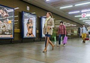 Reklamní plochy v Praze.