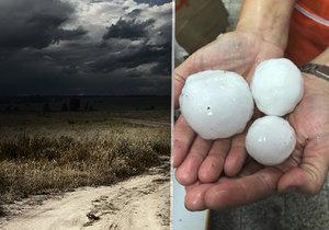 Česko opět zasáhly silné bouřky, s nimi můžou přijít i kroupy
