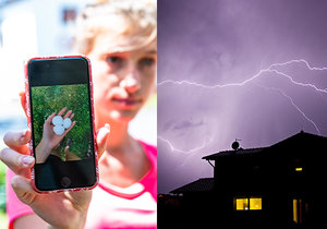 Do Česka opět přišly bouřky. Hrozí kroupy