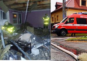 Hasiči na severu Moravy vyjížděli kvůli počasí zhruba ke čtyřem desítkám případů.