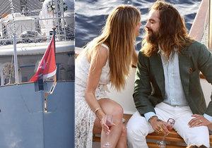 Heidi Klumová se vdala za hvězdu Tokio Hotel při pompézním večírku: Veselka na jachtě, kde se vdávala Grace Kellyová i Jaqueline Kennedyová