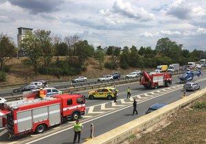 Nehoda na nultém kilometru dálnice D1, 5. srpna 2019.