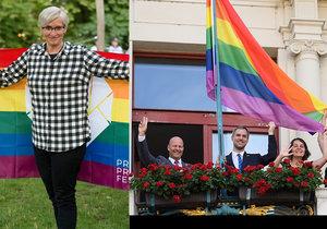 Politici vyjadřují podporu Prague Pride. Hřib vyvěsil vlajku, Šlechtová se s duhou vyfotila