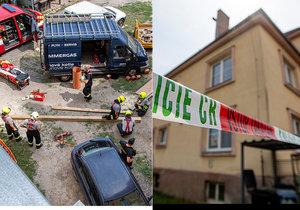 V Třebechovicích pod Orebem zahynul mladý dělník, kterého zavalila zeď.