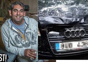 Zdeněk měl autonehodu