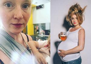 Herečka Marie Doležalová se po roce vrátila na místo, kde začala rodit!