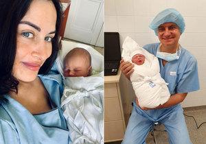 Alex Mynářová ukázala dva dny po porodu syna. Se jménem radil i Zeman