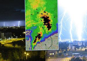 Česko zasáhly v noci na 12. srpna 2019 silné bouřky