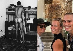Dcera Evy Holubové fotí přítele nahého.