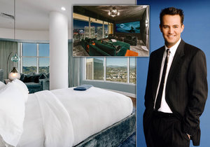 Chandler z Přátel Matthew Perry prodává kvartýr: 807 milionů za sídlo v oblacích!