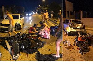 Opilý řidič srazil motorkáře. Ti utrpěli vážná zranění.