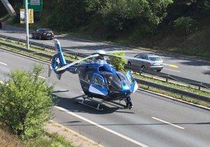 Na D1 míří vrtulník pro osobu, kterou srazil automobil (ilustrační foto).