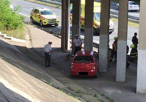 Dopravní nehoda ve Spořilovské ulici, 14. srpna 2019