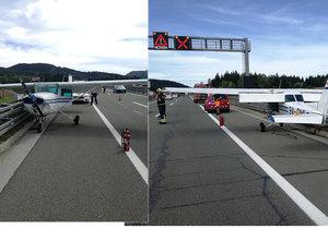 V Chorvatsku přistálo na dálnici letadlo: Po poruše motoru skončilo u svodidel