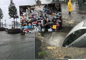 Silné deště způsobily záplavy v Istanbulu, hlášen je jeden mrtvý