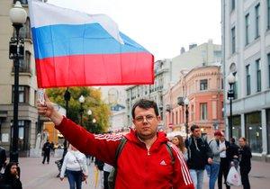 Demonstrace opozice v Moskvě pokračují individuálními protesty (17. 8. 2019)