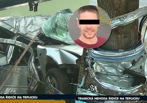 Řidič (†30) osobního auta nepřežil autonehodu: Narazil bokem do stromu