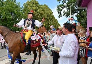 Folklorní festival Slovácký rok 18. srpna 2019 v Kyjově zpestřila jízda králů v podání chasy z nedalekých Skoronic. Mladého krále v dívčím kroji s růží v ústech tradičně doprovází 25 jezdců.