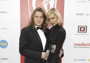 Piotr Wožniak-Starak s manželkou