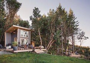 Víkendová chata nabízí pohodlí ve spojení s chytrým designem