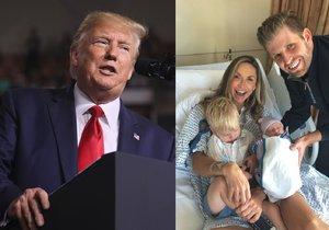Syn amerického prezidenta Donalda Trumpa Eric slaví druhé dítě