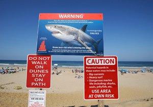 Zájemci o koupání v moři mají kvůli žralokům v USA těžké časy