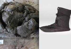 """Po téměř třech letech se podařilo konzervátorům nalezenou botičku """"vypulírovat"""" do takřka původní podoby."""