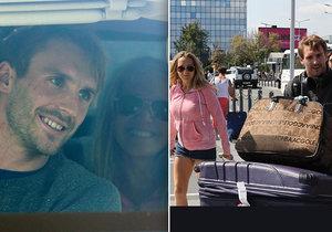 Lucie s Tomášem přiletěli z Kanady do Prahy