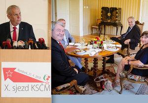 Na jaře byl Zeman komunistům na sjezdu. 21. srpna přijal jejich delegaci v Lánech a sklidil za to kritiku