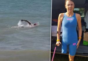 Handicapovaná sportovkyně Markéta Pechová se chystá přeplavat kanál La Manche.