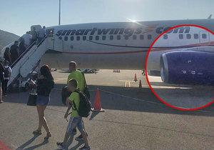 Vteřiny volného pádu: Cestující popsal let Smartwings s nefungujícím motorem!