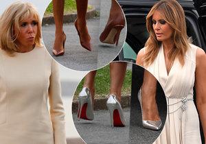 První dámy si sladily šaty. Trumpová i Macronová oslňovaly vedle manželů elegancí