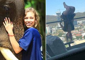 Dívka spadla při cvičení jógy z balkonu z výšky 25 metrů.