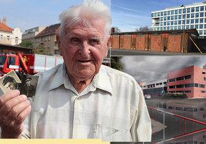Holešovická hasičská stanice z roku 1942 půjde k zemi. Rozloučil se s ní v její poslední dny i pamětník Maxmilián Sperling, který v ní sloužil dva roky.