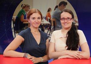 Vzdělávací expertka Jana Pácalová byla hostem pořadu Epicentrum 29.8.2019. Vpravo moderátorka Andrea Ulagová.