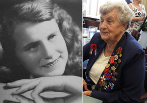Dana Milatová z Nového Jičína je jednou z posledních žijících účastnic odboje za druhé světové války. Nyní oslavila 90. narozeniny.