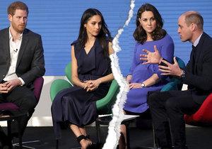 Kate s Williamem vyškrtli Harryho s Meghan ze své nadace