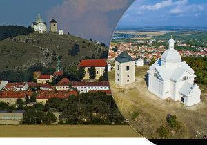 Bývalý Tanzberg s bílou kaplí a zvonicí se tyčí hned nad městem a zámkem.