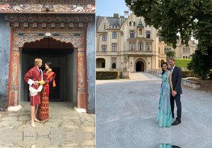 Karel Janeček se před dvěma roky v Bhútánu oženil s Lilií.