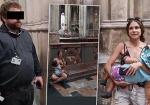 Marianne kojila svou dcerku v Chrámu svatého Víta, hlídač ji vykázal ven.