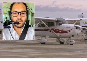 Pilot na první hodině výcviku musel sám přistát.