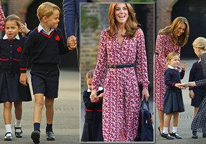 První školní den malé princezny Charlotte