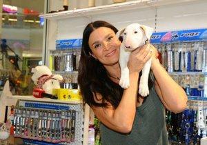 Mahulena Bočanová se svým psem