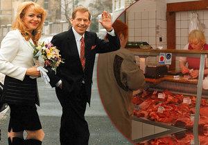 Václav Havel si Dagmar vzal v malé úřednické kanceláři na Žižkově. Netradiční svatební obřad se konal také v pražském řeznictví.