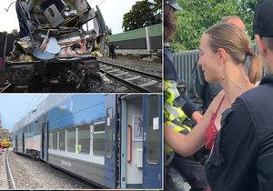 Cestující Martina Exnerová popsala dění při srážce uvnitř vlaku.