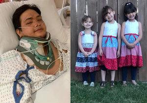 Otec (26) se probral po tragické nehodě a dozvěděl se, že jeho tři dcerky jsou mrtvé! Zabil je opilý řidič, který jel 130 km/h