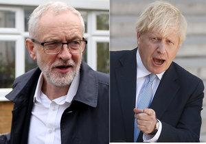 Průzkum: Volby by nyní vyhrál Johnson, po odkladu brexitu Corbyn