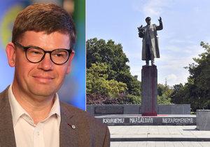 Kauza Koněv: Pospíšil výroky Ruska označil za nehoráznost. Podle Filipa se Praha 6 neřídí právem.